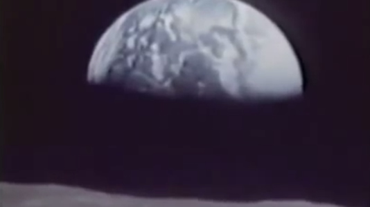Transmisión de la llegada del primer hombre a la luna